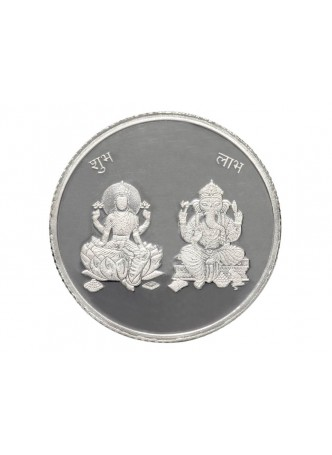 10gm Laxmi /Ganpati Non Colour 999  Purity Silver Coin