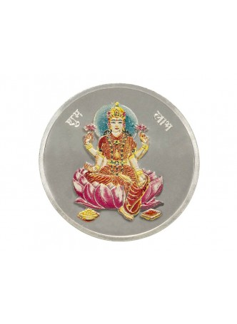 10gm Laxmi Colour 999  Purity Silver Coin