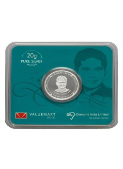Sachin Tendulkar Collector Edition Silver Coin 20GM Memorabilia