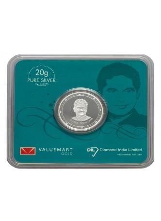 Sachin Tendulkar Collector Edition Silver Coin 20GM Memorabilia