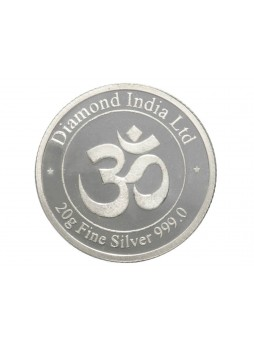 20gm Dil Logo Non Colour 999  Purity Silver Coin