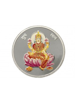 20gm Laxmi Colour 999  Purity Silver Coin