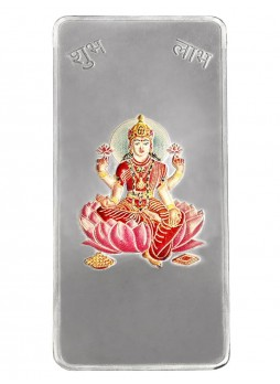 50gm Laxmi Colour 999  Purity Silver Bar