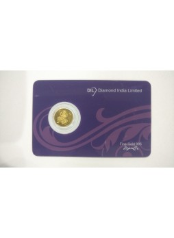1gm Laxmi Non 995  Purity Gold Coin