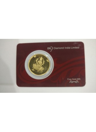 10gm Laxmi Non Colour 995  Purity Gold Coin