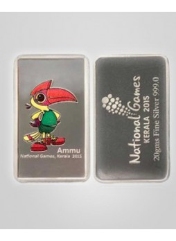 NATIONAL GAMES LIMITED EDITION SILVER COIN 20 GMS