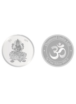 5gm Laxmi Non Colour 999  Purity Silver Coin