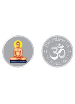 MAHAVEER PURE SILVER COIN 20GM
