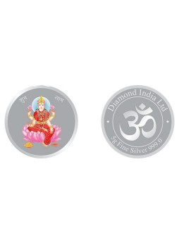 5gm Laxmi Colour 999  Purity Silver Coin