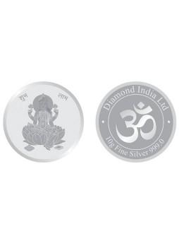 10gm Laxmi Non Colour 999  Purity Silver Coin