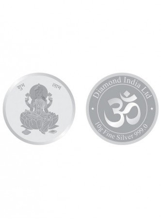 10gm Laxmi Non Colour 999  Purity Silver Coin
