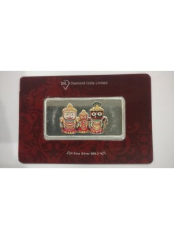 50gm Jagganathji Colour 999  Purity Silver Bar