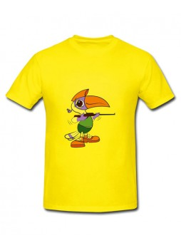 National Games Men's Round Neck T shirt Yellow