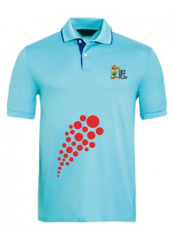 National games Men's Polo T shirt [Aqua]