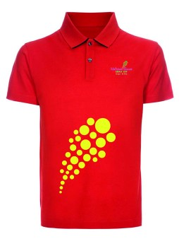 National games Men's Polo T shirt Dark Red