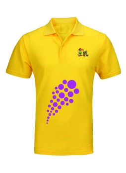 National games Men's Polo T shirt Yellow