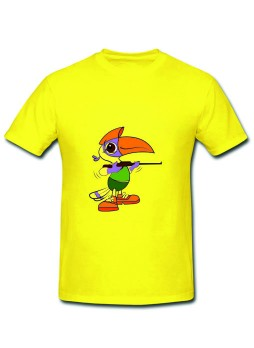 National games Round Neck T shirts Lemon-Polyester