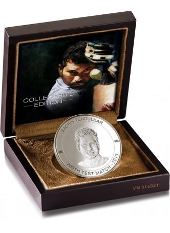 Sachin Tendulkar Limited Edition Silver Coin 200GM Memorabilia